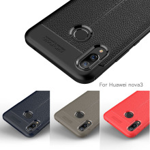Carbon Fiber Case For Huawei Nova 3 / 2 Soft Cover 3i 2i Phone Coque Fundas Etui Capa