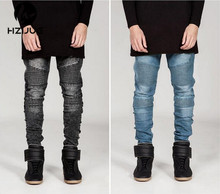 Symbolize Clothes Rock City Star 30-36 Blue/Black /Grey Skinny Moto Designer Denim Biker 2015 Mens Vogue Denims Males Pants