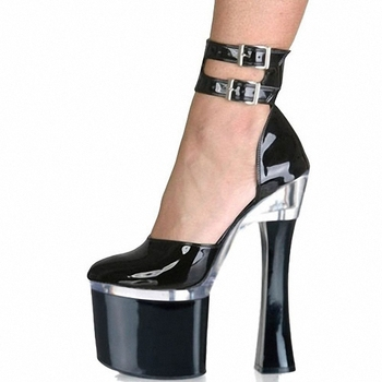 18cm The woman is extremely high heels, the glass heel and the star with the dazzling and noble dancing shoes