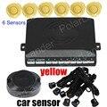new arrival 6 sensors Car Reverse Parking backup Sensors Buzzer sound alert 9 colors available backup reverse radar