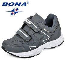 Bona новые детские кроссовки для мальчиков с тонким дизайном