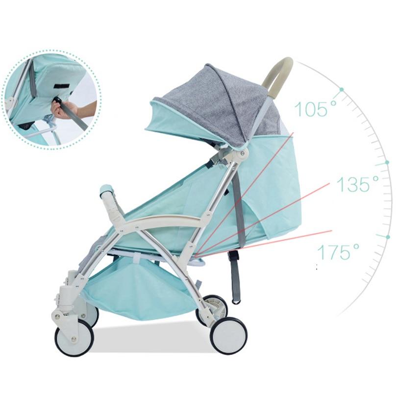 New Design Lightweight Baby Stroller Baby Traveling Outside Folding Stroller Aluminum Alloy Baby Carriage Children Pushchair baby stroller folding rocking horse pushchair infant stroller gold frame