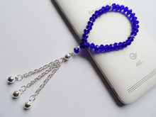 New type girls Lake blue crystal rope chain charm bracelet,fine quality lake blue religious tasbih prayer glass bracelet(China)