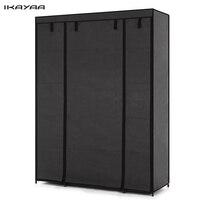 iKayaa Portable Fabric fold Portable Storage furniture When the quarter wardrobe Cabinet bedroom furniture wardrobe bedroom