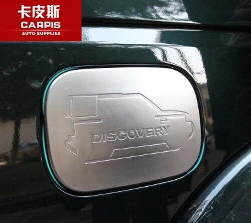Chrome Auto Öl Tankdeckel Abdeckung Auto Gas Tankdeckel aufkleber Für Land Rover Discovery 4 LR 2009-2017 Zubehör Auto Styling