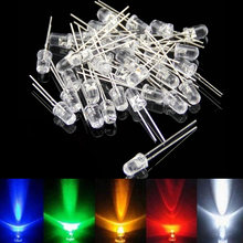 Newest 1000 Pcs 5MM Round Water Clear LED Light Diodes Electronic Kit @8 JD9 50 pcs db3 db 3 do 35 trigger diodes
