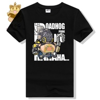 2017 Game Tee Shirt High Quality Game OW Fans Tee Shirt OW Character Roadhog T Shirt