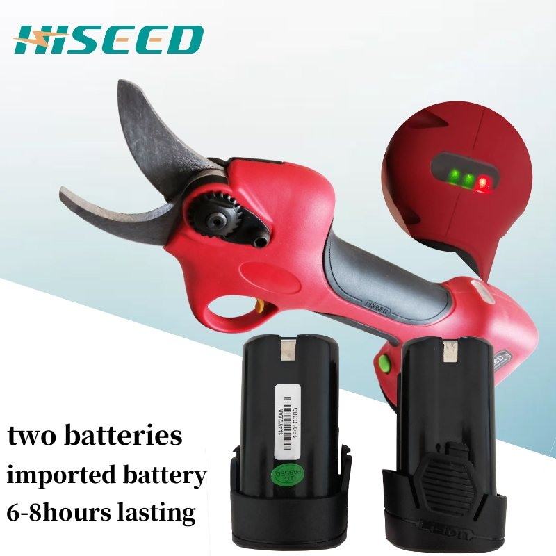 Lithium Battery Cordless Electric Pruning Shears, Fast Charging Working Time 6 -8 Hours Garden Scissors
