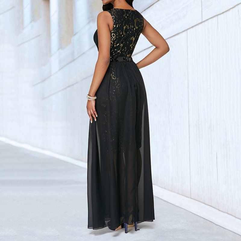 Летний сексуальный клуб Элегантные Вечерние черные женские длинные платья размер плюс, фатин африканские офисные женские винтажные женские модные макси платья