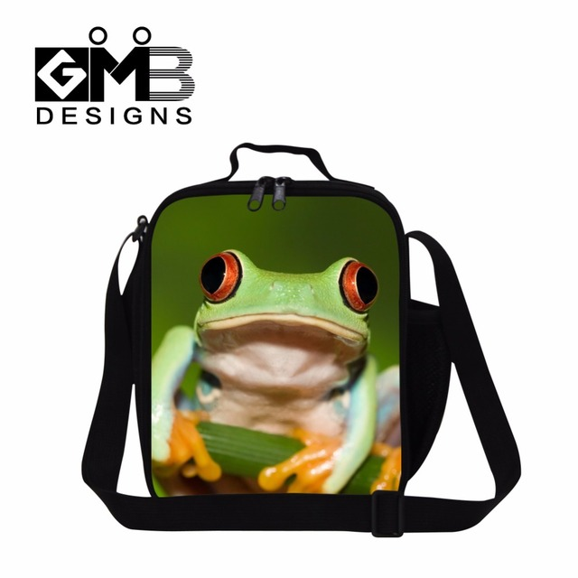 Cute Tree frog 3 meal bag for kids school,insulated lunch bag for women work,Lovely lunch bag polypedatid design,lunch container