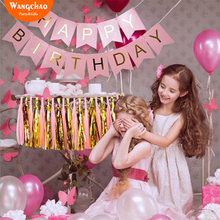 12 Colors 13pcs/pack Happy Birthday Banners 1st Party Favors Decorations 100 Days Kids Home DIY Decora Baby Shower