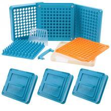 4 種類 100 穴カプセルパウダーメーカー 000 #00 #0 #1 # スプレッダープレート手動充填カプセル工作機械ブルー
