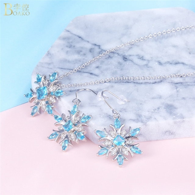 Snowflake Crystal Necklace 4