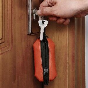 Image 2 - NewBring אמיתי עור מפתח ארנק מחזיק Scratchproof נעל רצועת סוכנת בית DIY חכם מפתח ארגונית