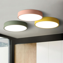 Modern minimalist Nordic personality creative dining living room bedroom walkway LED round macarons color ceiling lamps