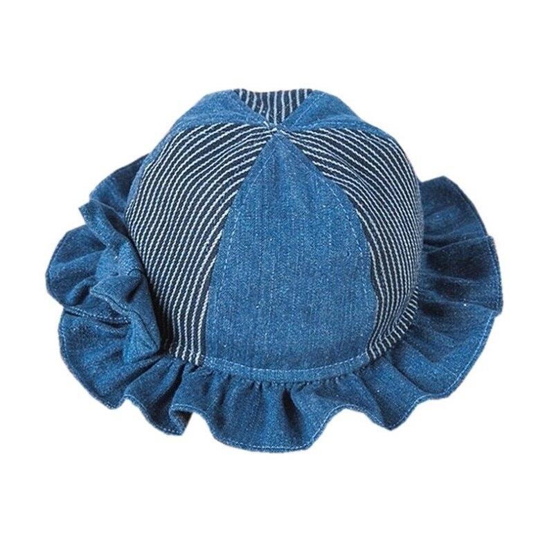 2017 Nové vysoce kvalitní dětské klobouky pro novorozené dívky Batoľa jarní Autum džíny Bow basin kapuce Bonet Dětské klobouky KF112