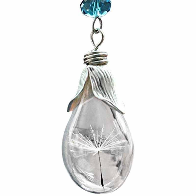 Echte Löwenzahn Halskette Wunsch Geschenk Schmuck Goldene kette Choker Halsketten Anhänger Halskette Charmant Vintage Anhänger Ornamente
