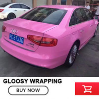 Gloss Pink Gloss Vinyl Film Wrap Super Gloss Auto Wrapping Film Sheet 1 52 20m Roll