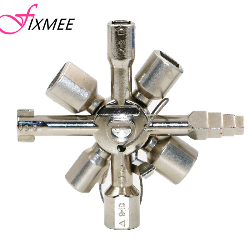 10 Way Service Utility Key 10 In 1 Universal Cross Key Plumber Keys Triangle For Gas Electric Meter Cabinets Bleed Radiators