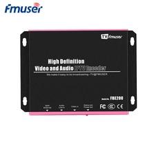 FMUSER H.264/H.265 IPTV кодировщик RTMPS HLS M3U8 HD к IP кодировщик для видео потокового видео Facebook Youtube Wowza, LAN подключение
