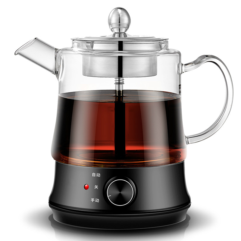 Boil tea ware Glass black pu er automatic electric heating kettle steam teapot