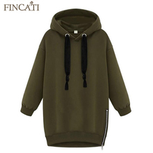 High Quality New Spring Women Lady Cotton Loose Hooded Jacket Thicken Velvet Long sleeve Sweatshirt Korean