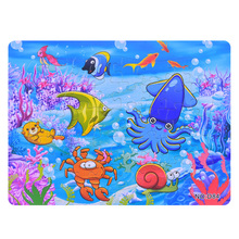 3D Paper jigsaw puzzles toys for children kids brinquedos Ocean World puzzle educational Baby Fish Crab Puzles