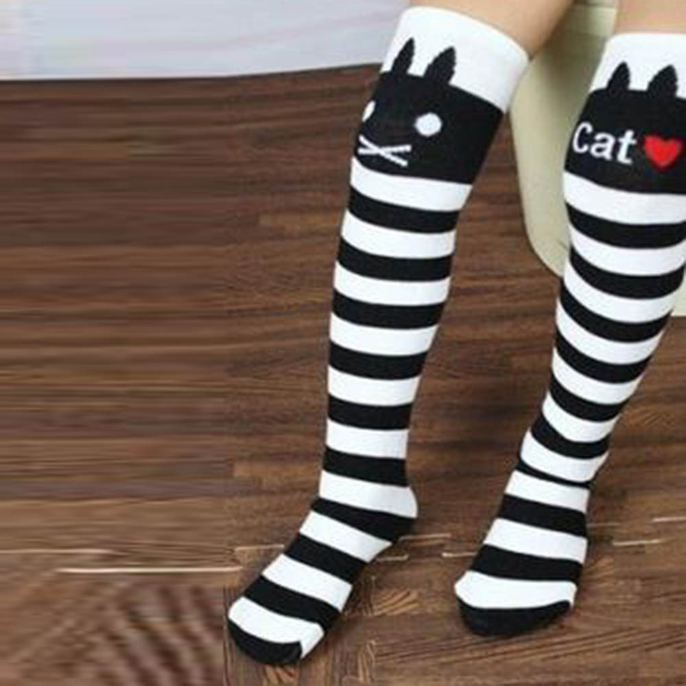 Cotton-Knee-High-Socks-Children-In-tube-Socks-Striped-knee-girls-Straight-Colorful-Socks-5