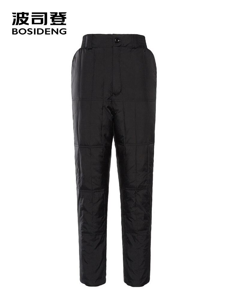BOSIDENG femmes bas pantalon 90% bas pantalon pour femmes grande taille maison caleçon long de haute qualité chaud en hiver froid B80130016