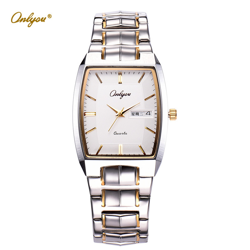Men Dress Watches Quartz Analog Movement Stainless Steel Straps Rectangle Wristwatch Men Relogio Masculino Erkek Kol Saati 8893 julius quartz watch ladies bracelet watches relogio feminino erkek kol saati dress stainless steel alloy silver black blue pink