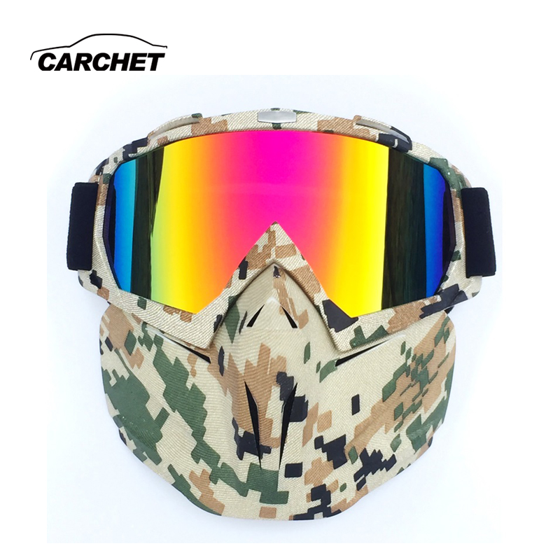 CARCHET Motorcycle Glasses for Man Woman anti-UV Motocross A