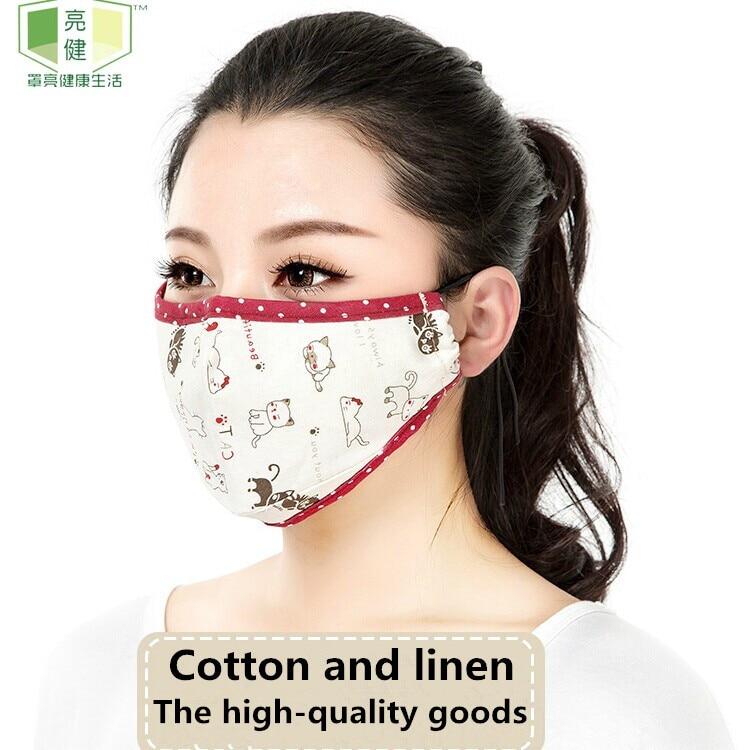 Surgical Dust 5 Mask Linen Filter Cute Pm2 Cotton Kpop