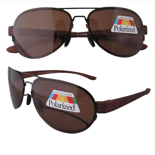 R11021 Brown Patent Polarized Bifocal Sunglasses Readers+1.00/+1.25/+1.75/+2.00/+2.25/+2.75