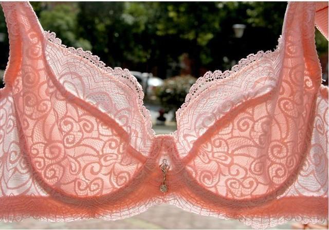 Envío libre 2015 nuevo ultra delgado DiaoZhengXing gravita sujetador de gasa blanco sexy ropa interior de encaje transparente sujetador