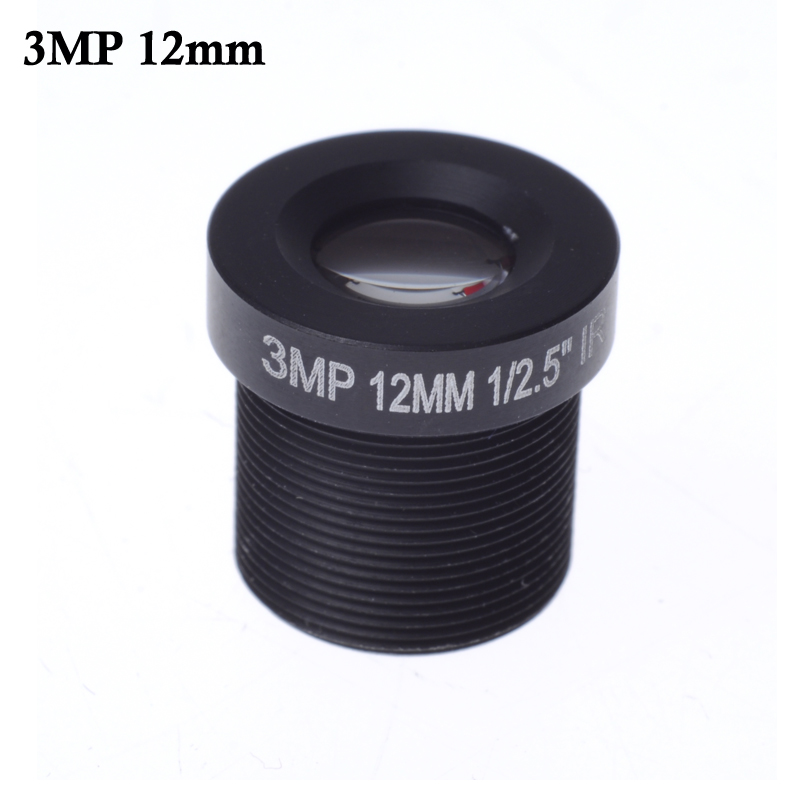 Wholesale CCTV lens M12*0.5,12mm  26.2 degrees 3.0megapixel HD IR  MTV Mount,Fixed Iris for cctv camera ip camera