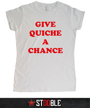 Give Quiche a Chance Ladies T-Shirt - Direct from Stockist New T Shirts Funny Tops Tee New Unisex Funny Tops Black Style цена
