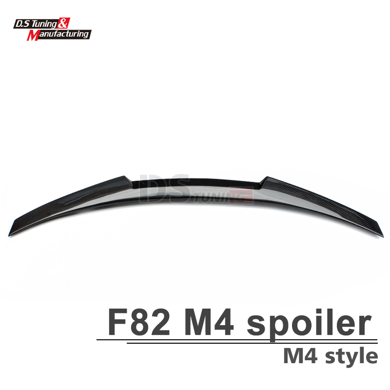 F82 M4 style carbon fiber rear trunk wing spoiler for bmw 4 series 2014 2015 2016 M4 f82 coupe 2-door car tuning replacement car styling carbon fiber abs rear side door mirror cover for bmw 5 series f10 gt f07 lci 2014 523i 528i 535i