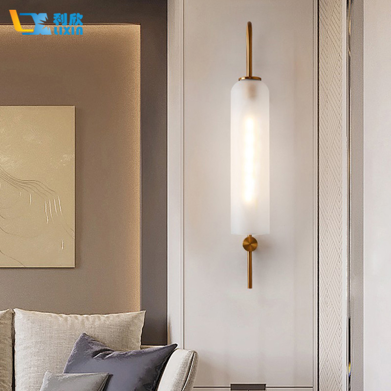 Modern Wall Lamp Nordic Creative Indoor Lighting Wall Sconce Lights for Bedroom Living Room With Colorful Glass Lampshade in LED Indoor Wall Lamps from Lights Lighting