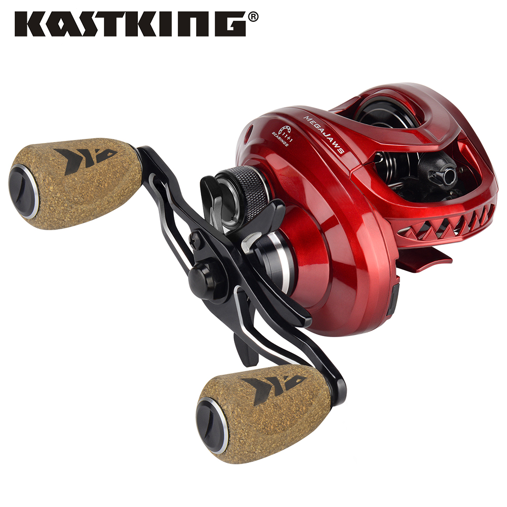 KastKing MegaJaws 12 Ball Bearings Baitcasting Fishing Reel 4 Gear Ratio 8KG Drag Baitcasting Reel for