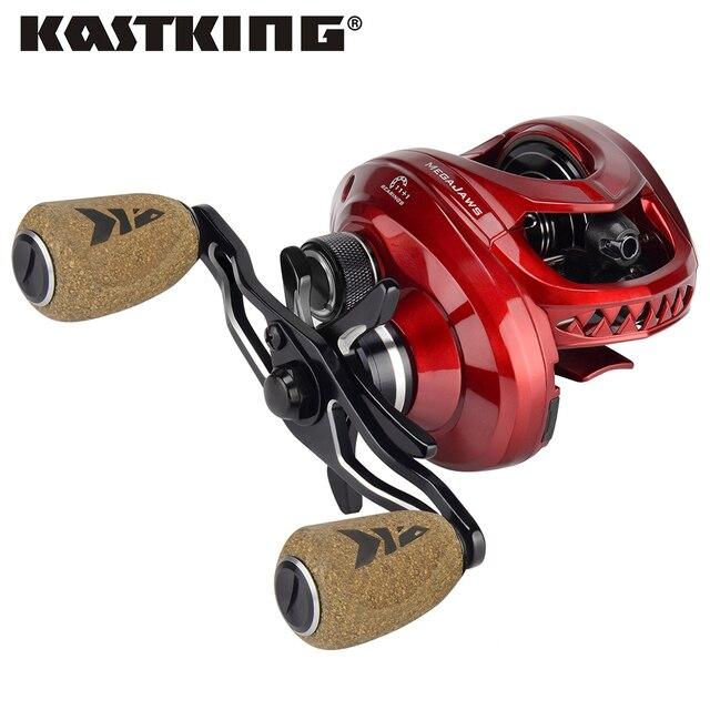 KastKing MegaJaws 12 Ball Bearings Baitcasting Fishing Reel 4 Gear Ratio 8KG Drag Baitcasting Reel for River Lake Fishing