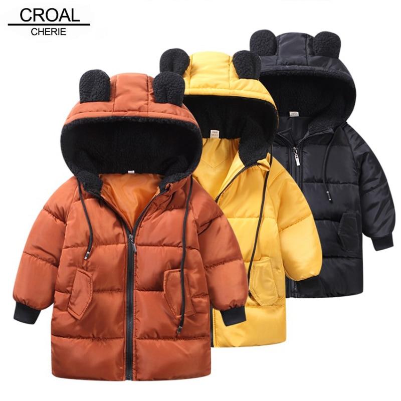 Куртка CROAL ручной работы для девочек, пальто для мальчиков, детская зимняя верхняя одежда и пальто, повседневная одежда для маленьких девоче...