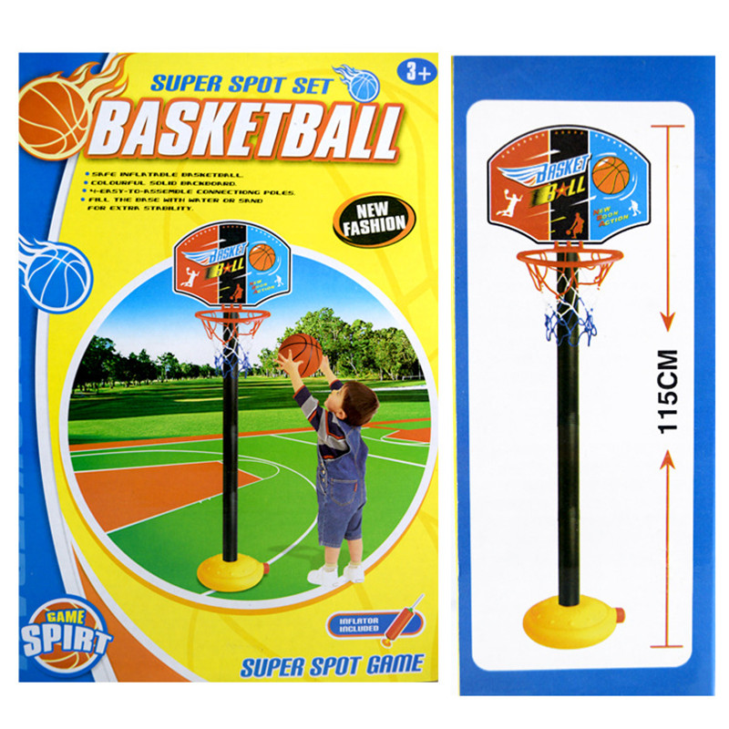 QICSYXJ Birthday Gift Supply Outdoor Fun Toy Sports Basketball Stands Children Shoot At The Basket Toy with Inflator