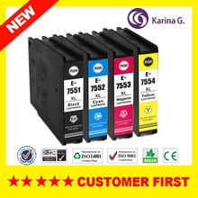 1set compatible inkjet cartridge for epson T7551( t7561 t7541 )  For EPSON WF-8590DWF WF-8590DTWF with pigment ink