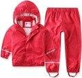 La Primavera y el Otoño de Los Niños traje niños andgirls traje chaqueta impermeable a prueba de agua de alta calidad a prueba de viento pantalones overoles