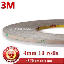 10x 4mm*55M*0.17mm (thick) 3M 9495LE 300LSE PET Strong Sticky Waterproof 2 Sides Adhesive Tape for Phone LCD Frame Joint #924