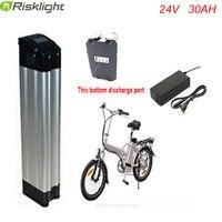 Bottom Discharge 24v Silver Fish Li Ion Battery Pack 24v 30ah Lithium Battery For Electric Bike