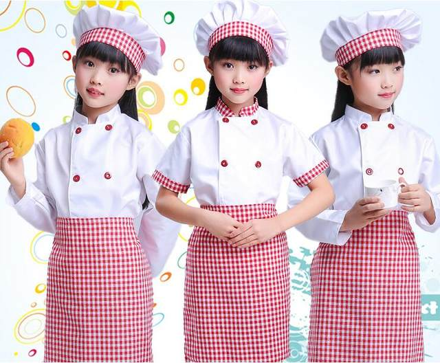 image  sc 1 st  Aliexpress & Online Shop Girls Boy Halloween Cosplay Costume Chef Uniform Kids ...