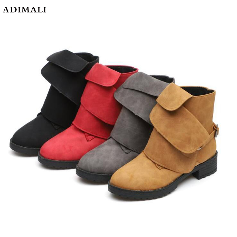 botas mujer Genuine Leather Boots Women Mid-Calf Med-High Boots Winter Shoes square heel Martin Boots Back Zipper Snow Booties fashion genuine leather boots zapatos mujer straps women mid calf botas mujer shoes woman chunky high heel martin boot