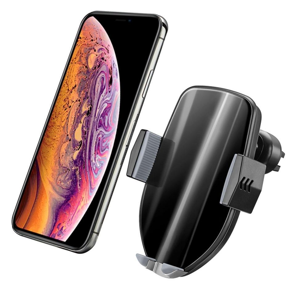 10 W Qi voiture rapide sans fil chargeur support pour téléphone Intelligent infrarouge voiture support pour téléphone pour iPhone Xs Max Xr X Samsung S10 S9