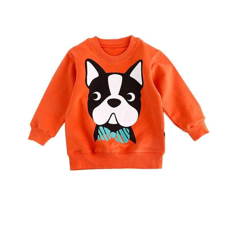 Новый 2018 Куртки для маленьких мальчиков и девочек модные милые Пёс из мультфильма узор Детское пальто с длинным рукавом Мода Детская куртка...
